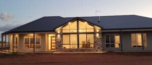 Exterior of new home by Outback Builders